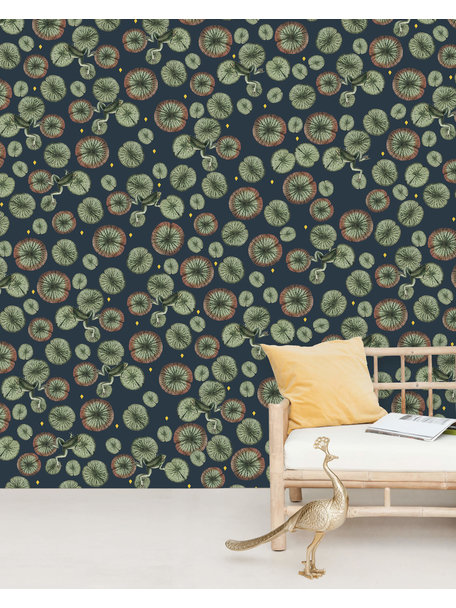 Funky Frog Wallpaper Gold