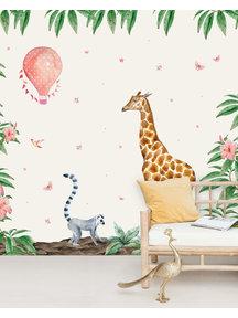 Creative Lab Amsterdam Giraffe Behang Mural