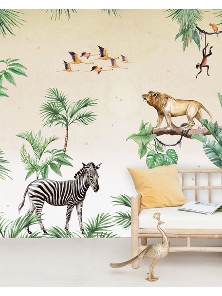 Creative Lab Amsterdam King of the Jungle Behang Mural