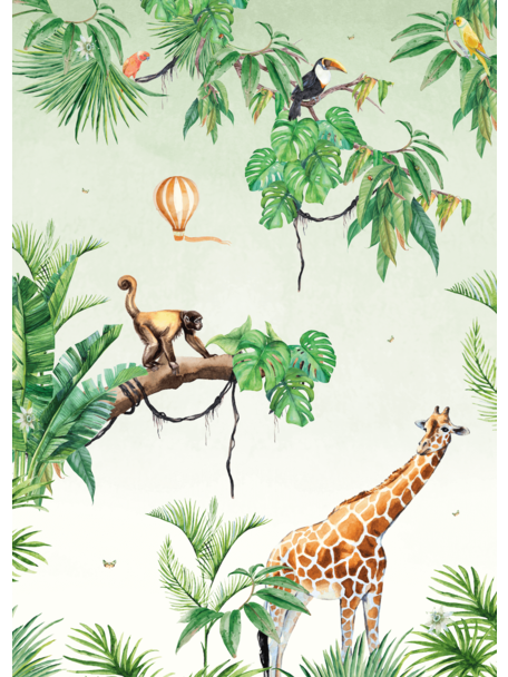 Creative Lab Amsterdam Monkey Jungle Wallpaper Mural
