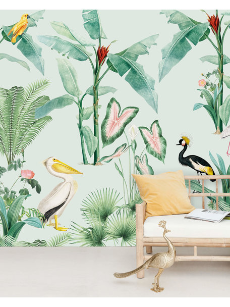 Creative Lab Amsterdam Pelican Wallpaper Mural