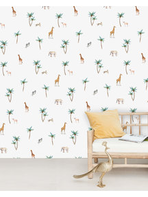 Creative Lab Amsterdam Savannah Palm Tree Wallpaper Mural