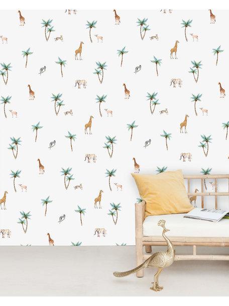Savannah Palmtree Behang