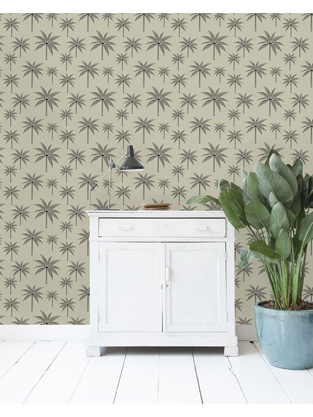 Creative Lab Amsterdam Black Palm Wallpaper