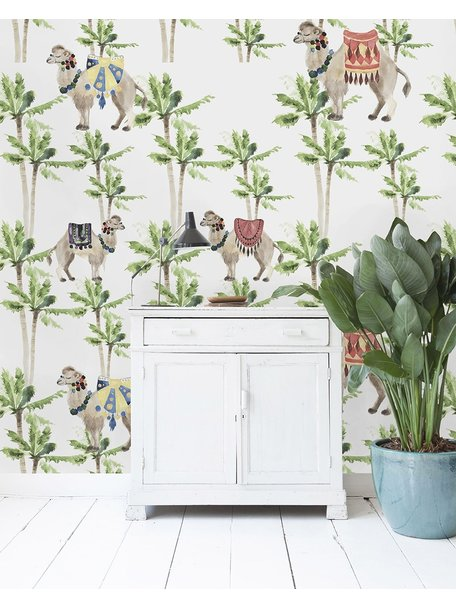 Creative Lab Amsterdam Camel Palm Light Wallpaper