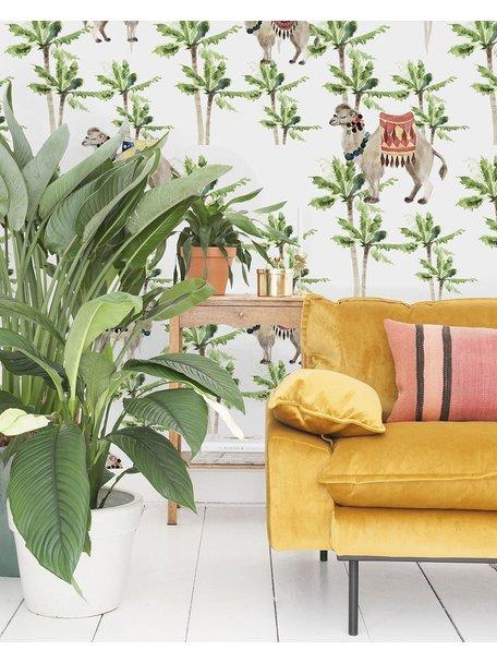 Creative Lab Amsterdam Camel Palm Light Behang