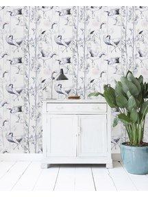 Creative Lab Amsterdam Crane White Wallpaper