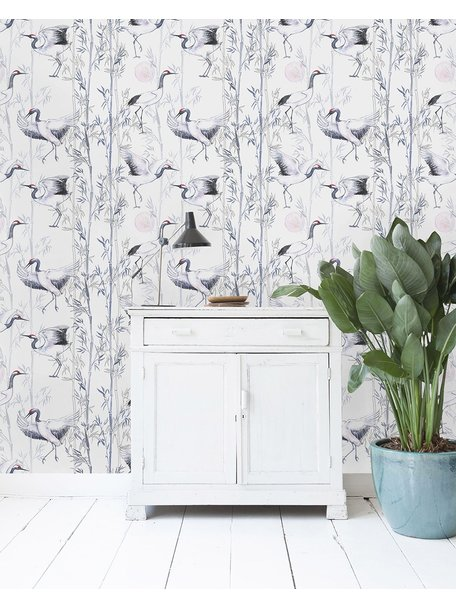 Creative Lab Amsterdam Crane White Wallpaper