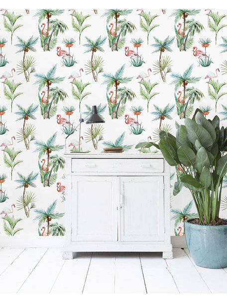 Creative Lab Amsterdam Flamingo Palm Wallpaper