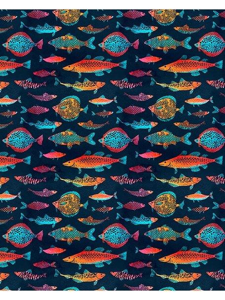 Creative Lab Amsterdam Night Fishes Behang