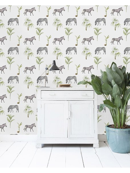 Creative Lab Amsterdam Zebra Palm Wallpaper