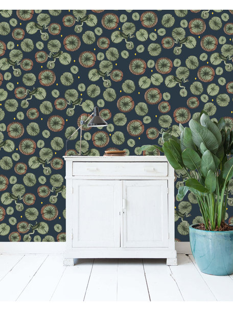 Creative Lab Amsterdam Funky Frog Wallpaper Gold