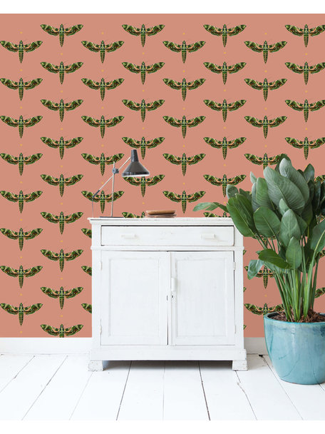 Creative Lab Amsterdam Dusty Pink Behang Gold