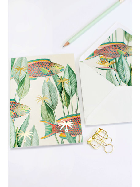 Creative Lab Amsterdam Parrot fish Greeting Card