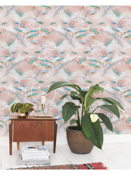 Creative Lab Amsterdam Fishes Wallpaper Pink
