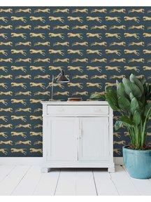 Creative Lab Amsterdam Leopard Wallpaper Blue