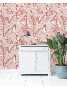 Creative Lab Amsterdam Banana Leaves Watercolour Wallpaper Pink