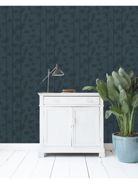Creative Lab Amsterdam Bamboo Wallpaper Blue