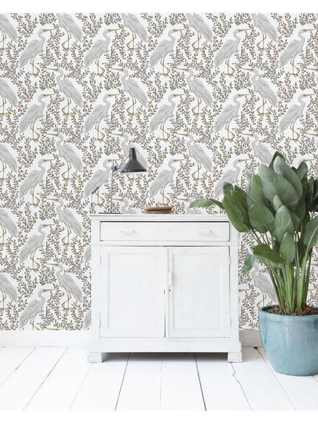 Creative Lab Amsterdam White Heron Wallpaper Light