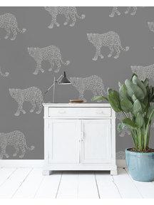 Creative Lab Amsterdam Panther Wallpaper Grey
