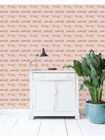 Creative Lab Amsterdam Leopard Wallpaper Pink