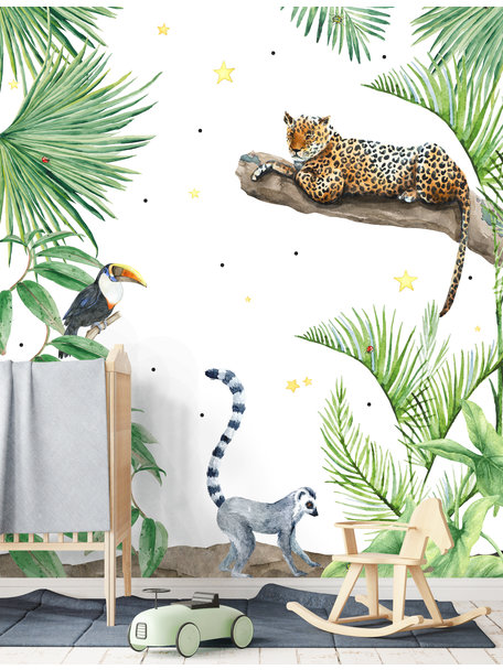 Creative Lab Amsterdam Jungle Tiger Wallpaper setting