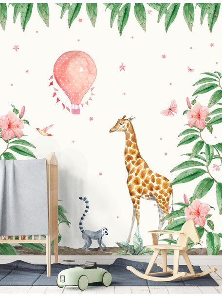 Creative Lab Amsterdam Giraffe Behang setting