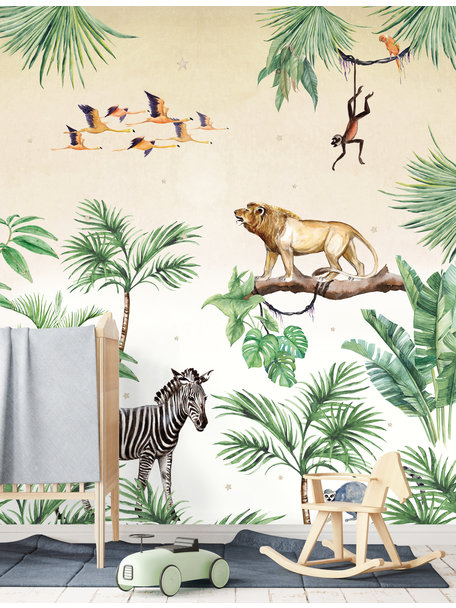 Creative Lab Amsterdam King of the Jungle Wallpaper setting