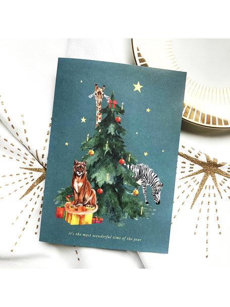 Creative Lab Amsterdam Under the Tree Christmas Card Giraffe