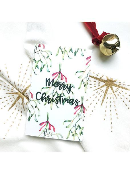 Creative Lab Amsterdam Mistletoe Christmas Card White (set of 8 cards)