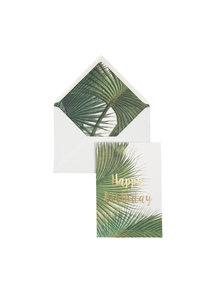 Botanic Palm Wenskaart - Happy Birthday