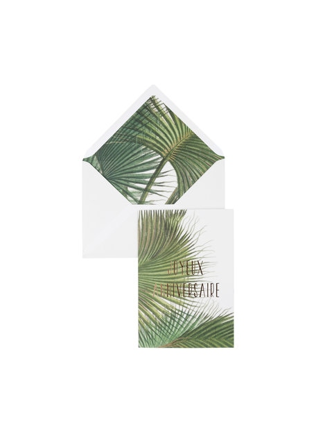 Botanic Palm Wenskaart - Joyeux Anniversaire