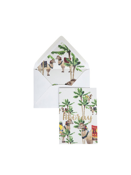 Camel Palm Greeting Card - Hooray
