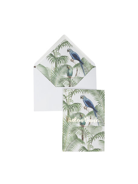 Chat in the Jungle Greeting Card - Vielen Dank