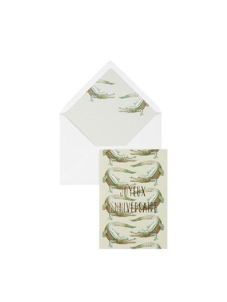 Crocodile Dundee Greeting Card - Joyeux Anniversaire