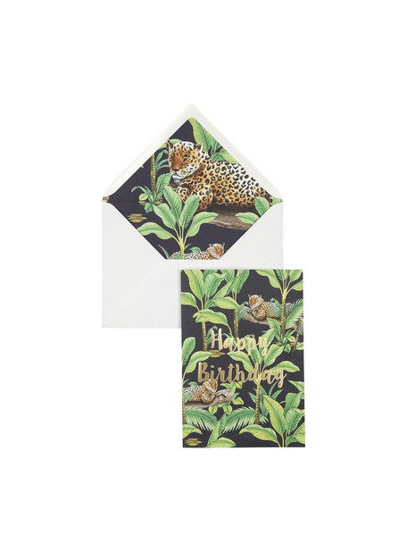 Panther by Night Greeting Card - Happy Birthday