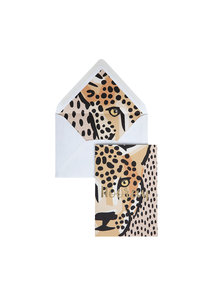 Panther Dots Greeting Card - Hooray