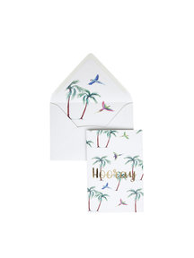 Parrot Palm Greeting Card - Hooray
