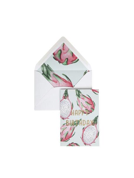 Pitaya Greeting Card - Happy Birthday