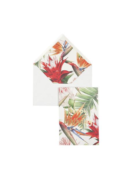 Power Flower Greeting Card - Happy Birthday