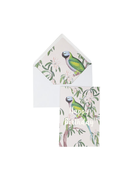 Singing In The Tree Greeting Card - Happy Birthday