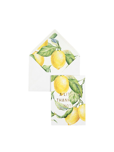 Yellow Lemon Tree Wenskaart - A Little Thank You Note