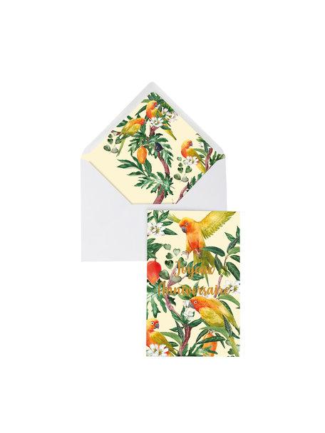 Go go Mango Greeting Card - Joyeux Anniversaire