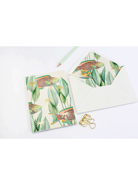 Parrot fish Greeting Card - With Love