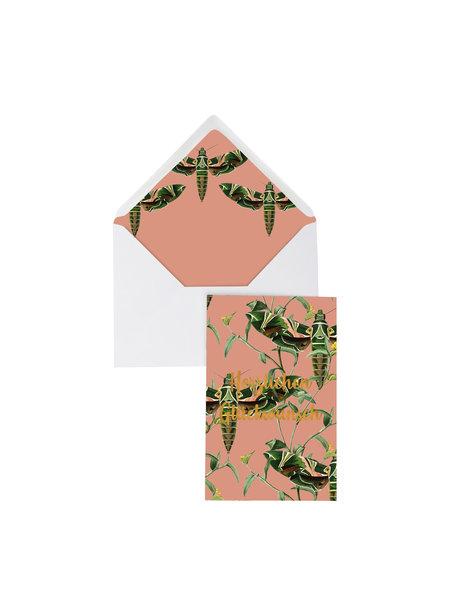 Dusty Pink Greeting Card - Herzlichen Glückwünschen