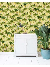 Golden Bananas Yellow Wallpaper