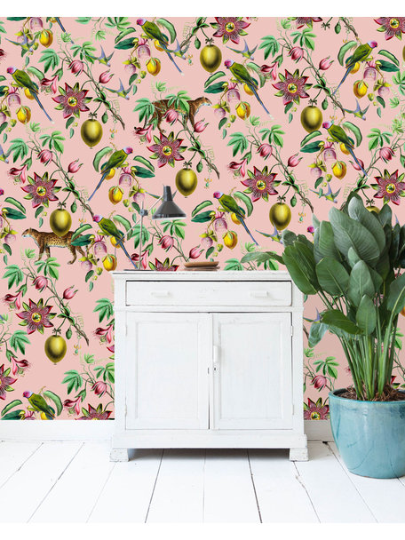 Botanical Garden Pink Wallpaper