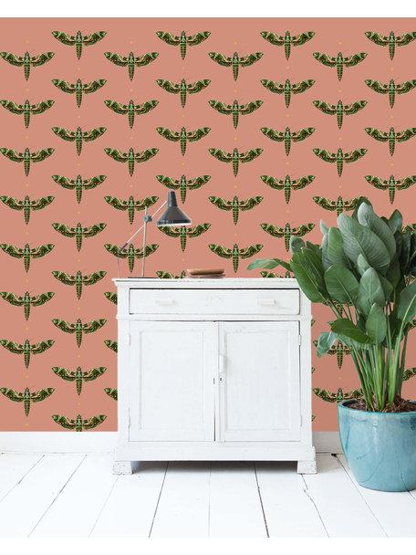Dusty Pink Wallpaper Gold