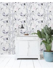 Crane White Wallpaper