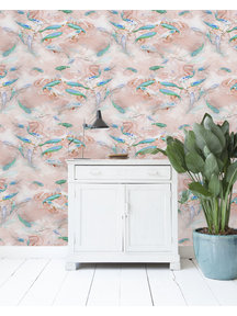Fishes Pink Wallpaper